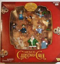 Mickey's Christmas Carol 10 Piece Figurine Set Memory Lane Disney Holiday 2002