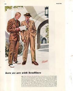 1940 Yale, Harvard, Princeton Jackets, ties, slacks by Laurence Fellows