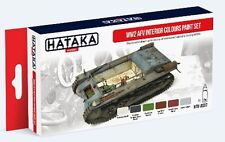 Hataka AS37 WWII AFV Interior Colors Paint Set (6 Colors) 17ml Bottles