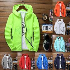 Para hombres Impermeable interruptor Wind Jacket Hoodie Luz Deportes Prendas de abrigo capa delgada Gimnasio