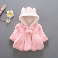 Cute Baby Girl Kid Infant Hooded Winter Warm Coat Cloak Jacket Thick Clothes