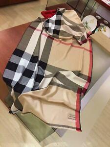 AUTHENTIC BURBERRY Scarf for women khaki color 100% cashmere scarf