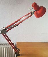 LAMPE ARCHITECTE VINTAGE 2 BRAS ROUGE ANNEES 70 MARQUE WG LONG. 103cm  T.B.ETAT