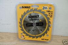 DEWALT DT1949 (DT1207) 165MM X 20MM BORE 24T TCT SAW BLADE DC390 DCS391
