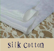 White Silk Cotton Fabric For Lining 9m/m 140CM 50%Silk 50%Cotton