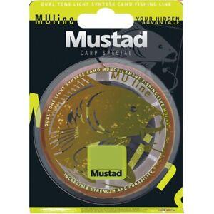 Mustad Mu Line 1200m Bulk Spool Mono Monofilament Green Carp Fishing