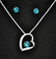 White Gold Turquoise Costume Jewellery Sets