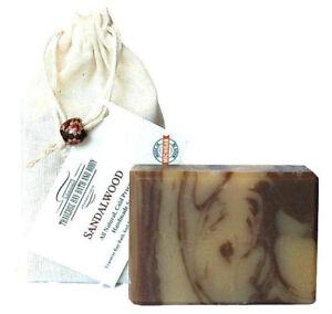 Sandalwood Handmade Bar Soap - Large 5.5-6 oz size with