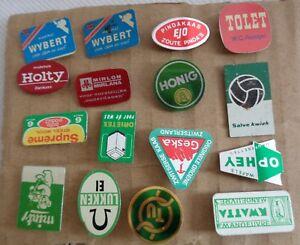 Vintage Metal Stick Pin Badges Circa 1960s Wybert Honig Salve Kwiek Set of 16