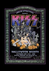 KISS at Los Angeles * Halloween * Concert Poster 1996  13x19