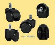 55 Office Chair Casters Soft Roll Rubber Wheels - 132