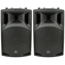 "QTX QX15A 15"" paio di diffusori attivi PA DJ Discoteca pacchetto 1000 W"