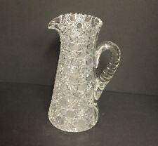 American Brilliant Cut Glass Tankard Water Pitcher in the Harvard pattern