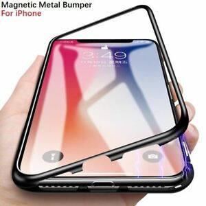 Case Cover Magnetic Tempered Glass For Apple iPhone Xs X 8 7 Plus 6 Se 2020