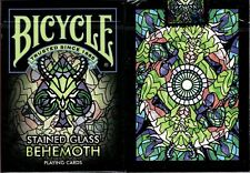 Stained Glass Behemoth Bicycle Playing Cards Poker Size Deck USPCC Custom Sealed