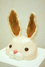 "RARE SUPERB ORIGINAL CHIHO IWASE ""Bunny"" Rabbit Hare RESIN Japan SCULPTURE"