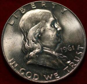 Uncirculated 1961-D Denver Mint Silver Franklin Half