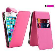 Abatible Cuero Estuche Cubierta Para SAMSUNG GALAXY varios móviles + protector de pantalla