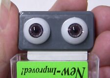 GLASTIC REALISTIC  DOLL EYES - 14 mm - DARK GRAY - Deep GORGEOUS COLOR!  NIP