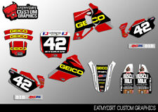 TO FIT HONDA CR80 1996 - 2002 CUSTOM GRAPHICS KIT DECALS STICKERS MX MOTOCROSS
