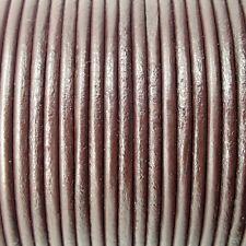 Correa de cuero 1mm 1,5mm 2mm 3mm cordón REDONDO PIEL NEGRO