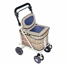 new shopping trolley & seat &  backrest  tartan &navy(direct from manufacturer)