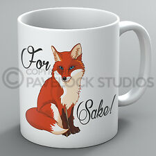 For Fox Sake Mug Foxes Funny Cute Offensive Profanity Rude Swearing Present Gift