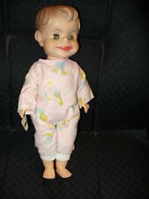 """14"""" VINTAGE 1950s ELF-LIKE BOY DOLL MOLDED HAIR, JOINTED BODY  CHARACTER DOLL"""