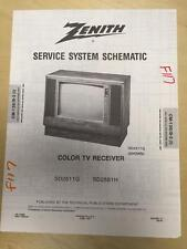 Zenith Service Manual Schematic for the SD2511G SD2581H TV Receiver     mp