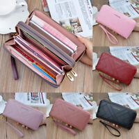 Women Clutch Leather Wallet Long Card Holder Phone Bag Case Purse Lady Handbag S