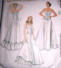 prom BRIDAL Pattern corset petticoat underskirt slip bride 8-14 fancy strapless