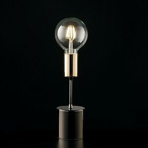 Lumetto Lamp Support Modern Chrome Black Gold Minimal Industrial Elegant Flex