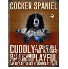 Cocker Spaniel Dog Lover Hanging Metal Sign Verse Plaque Picture Great Gift Xmas