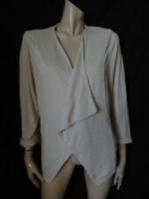 (141OCT) Size 18/20 Eu48 *WALLIS* Chic beige waterfall cardigan ladies/womens