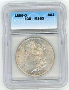 1890 O Morgan Silver Dollar ICG MS-63