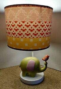 Cocalo Baby Lamp elephant and bird in trunk sweet jungle