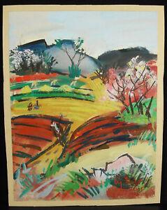 Charles Bégo (1918-1983) La Countryside IN Herblay, Paris 2 April 1948 Drawing