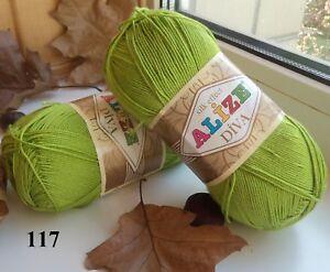 Yarn Alize Diva 100% microfiber yarn acrylic yarn hypoallergenic yarn summery