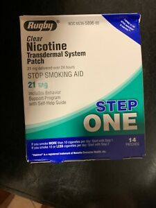 Rugby Clear Nicotine Transdermal System 14 Patches 21mg One Step 6/21 SHIPS FREE