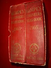 KEMPES ENGINEERS YEAR BOOK 70TH EDITION 1965 2 VOLUMES IN SLIP COVER