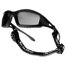 BOLLE TRACKER II SAFETY SPECTACLES TACTICAL SMOKE GLASSES BLACK FRAME + HEADBAND