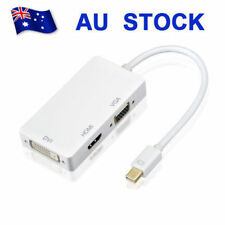 AU 3 In 1 Mini Display Port DP To HDMI DVI VGA Adapter Cable Thunderbolt