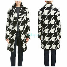 NEW 7 For All Mankind $698 Virgin Wool SW Houndstooth Saddle Blanket Coat 12