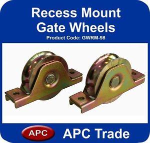Sliding Gate 600kg Recess mount 2 wheels 98mm high, extra heavy duty 2 bearings