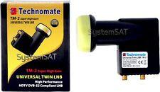 Technomate tm-2 Super Alta 0,1 Db Twin Lnb Universal Nuevo