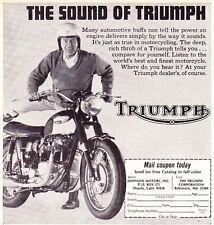 1967 TRIUMPH MOTORCYCLE ~ ORIGINAL SMALLER PRINT AD