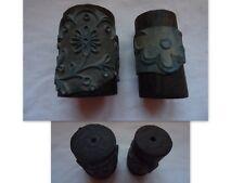 MERCERIE 2 ANCIENS TAMPON ROULEAUX DECOR FLEURS  BRODERIE