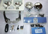 BMW Mini Convertible Cooper 01-06 Stainless Steel Spot Lights like Chrome + kit