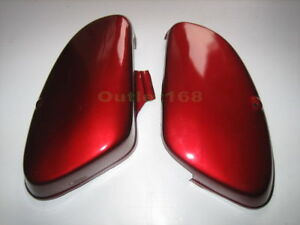HONDA CUB PASSPORT C50 C70 C90 Deluxe RED Side Frame Cover SET Pair LH + RH