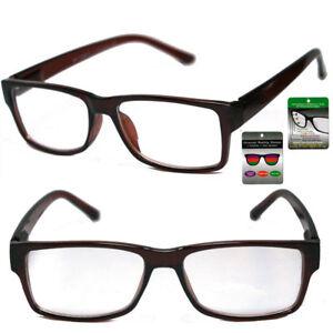 Progressive Reading Glasses 3 Strengths in 1 Reader Square Frame Spring Temple